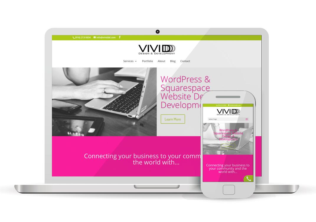 VIVIDDD WordPress Website Re-Design