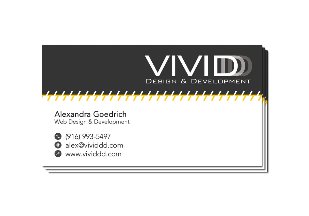 VIVIDDD Business Card 1 Front