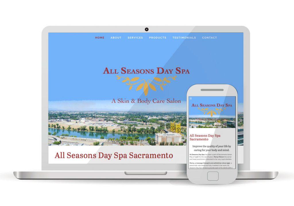 Client Portfolio All Seasons Day Spa Sacramento | Squarespace Website Design