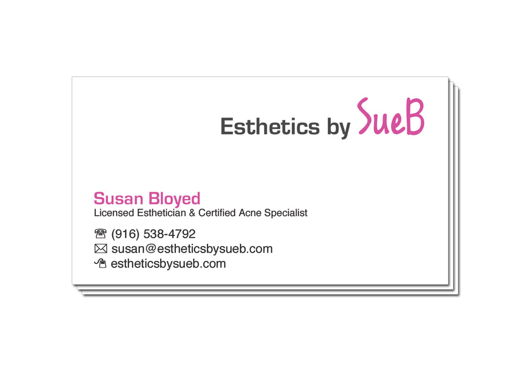 Esthetics By SueB Business Card Front