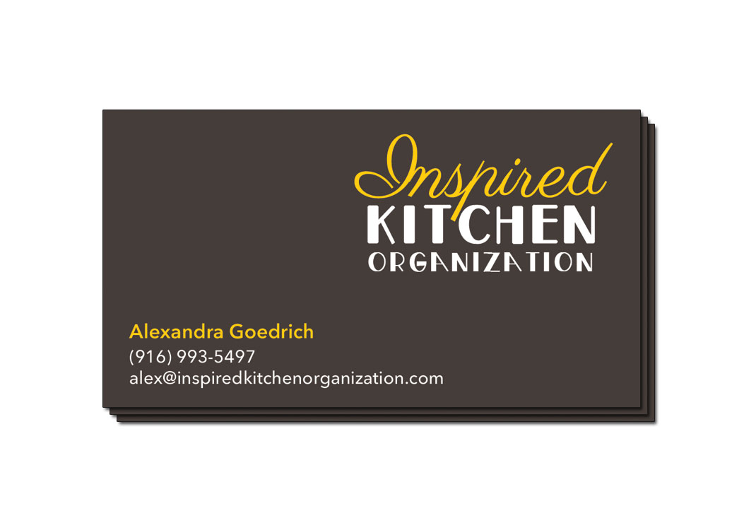 Inspired Kitchen Organization Business Card Front