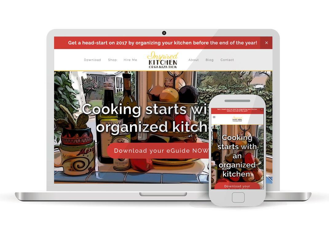 Inspired Kitchen Organization Squarespace Website Design