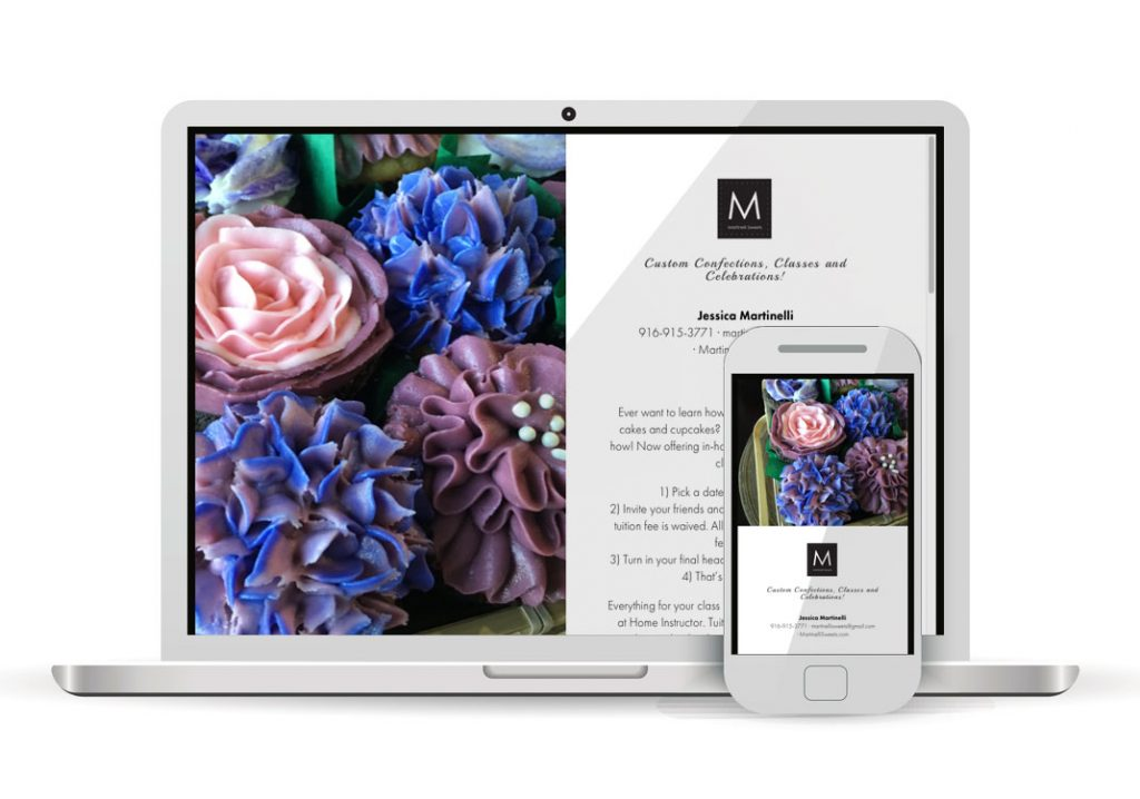 Client Portfolio Martinelli Sweets Roseville | Squarespace Website Design
