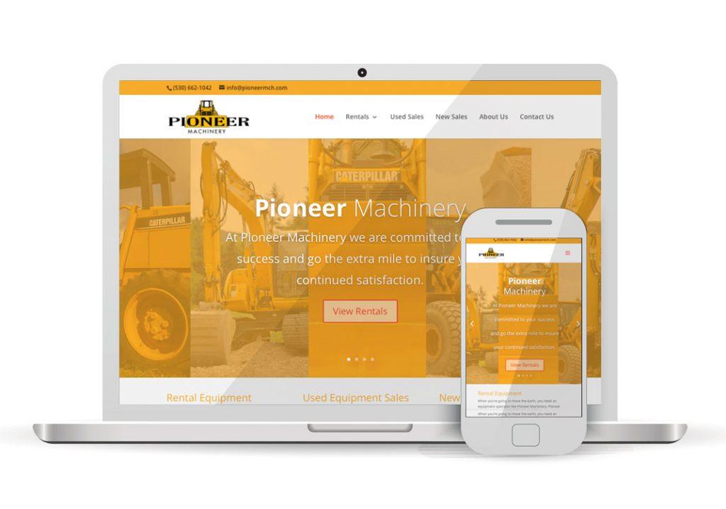 Client Portfolio Pioneer Machinery Woodland | Wordpress Website Design