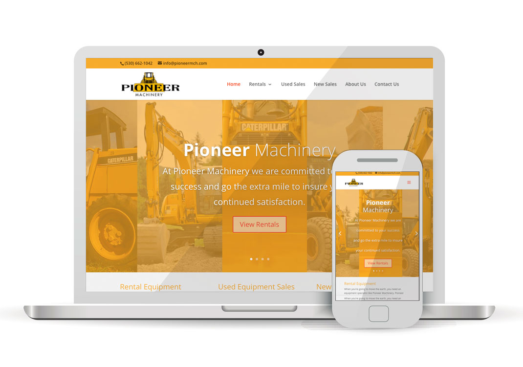 Pioneer Machinery WordPress Website Design