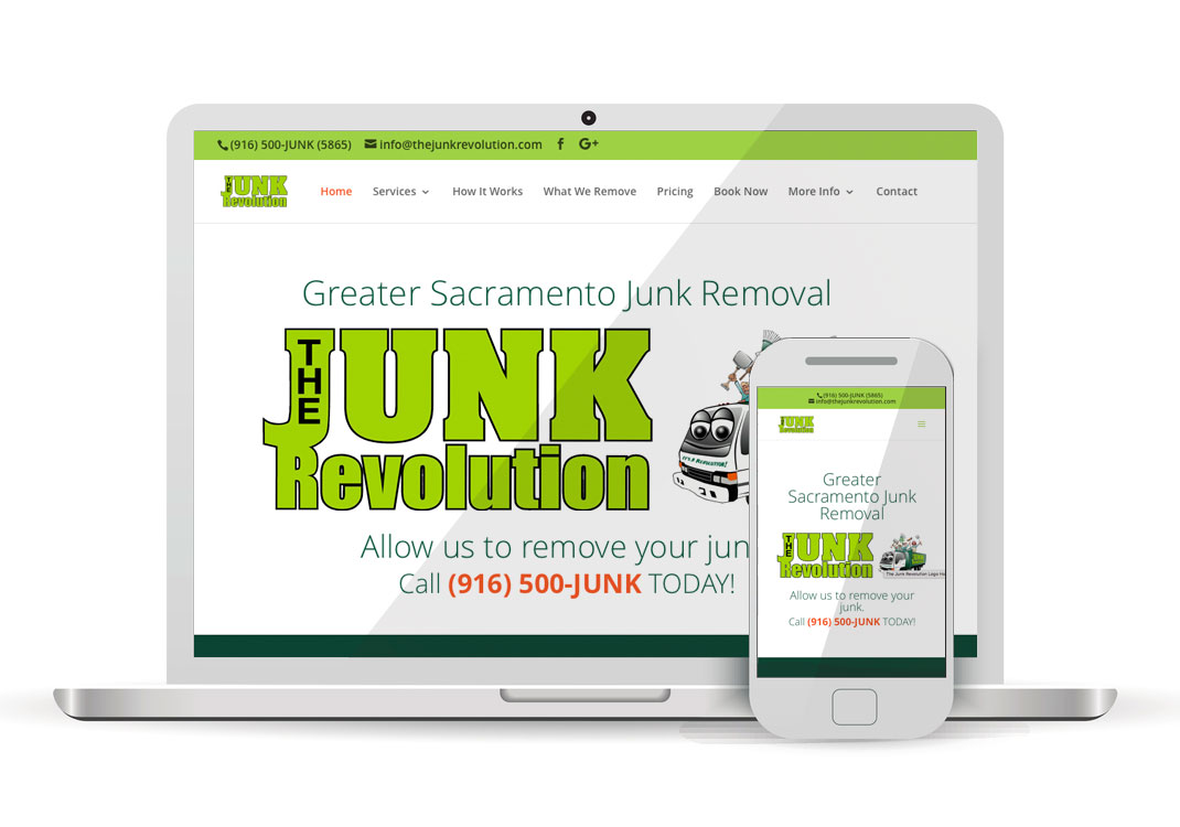 The Junk Revolution WordPress Website Design