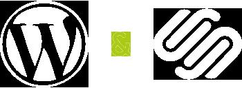 Icon WordPress Website Design Development White