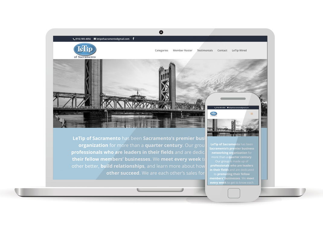 LeTip Sacramento WordPress Website Design