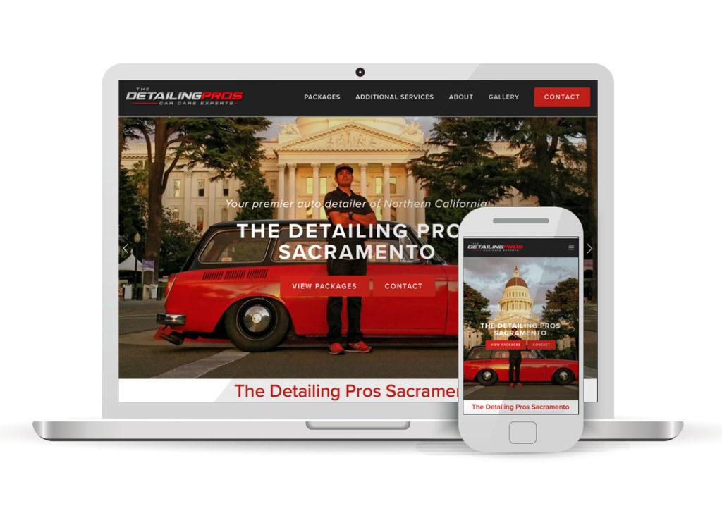 Client Portfolio The Detailing Pros Sacramento | Squarespace Website Design