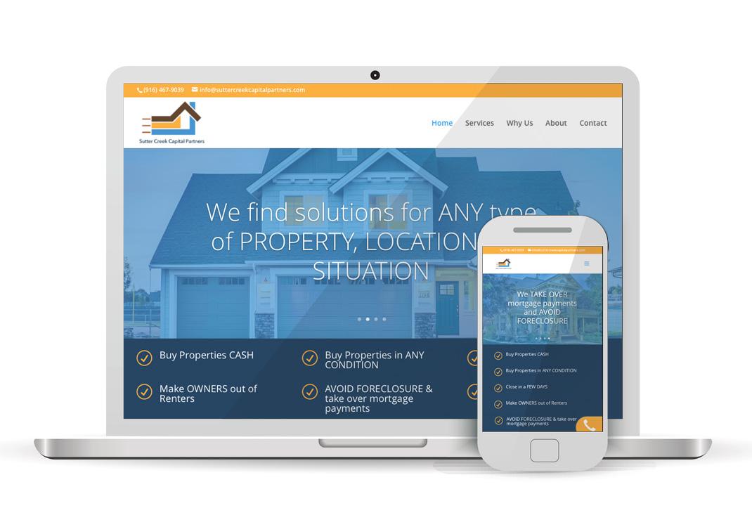 Sutter Creek Capital Partners WordPress WebsiteDesign