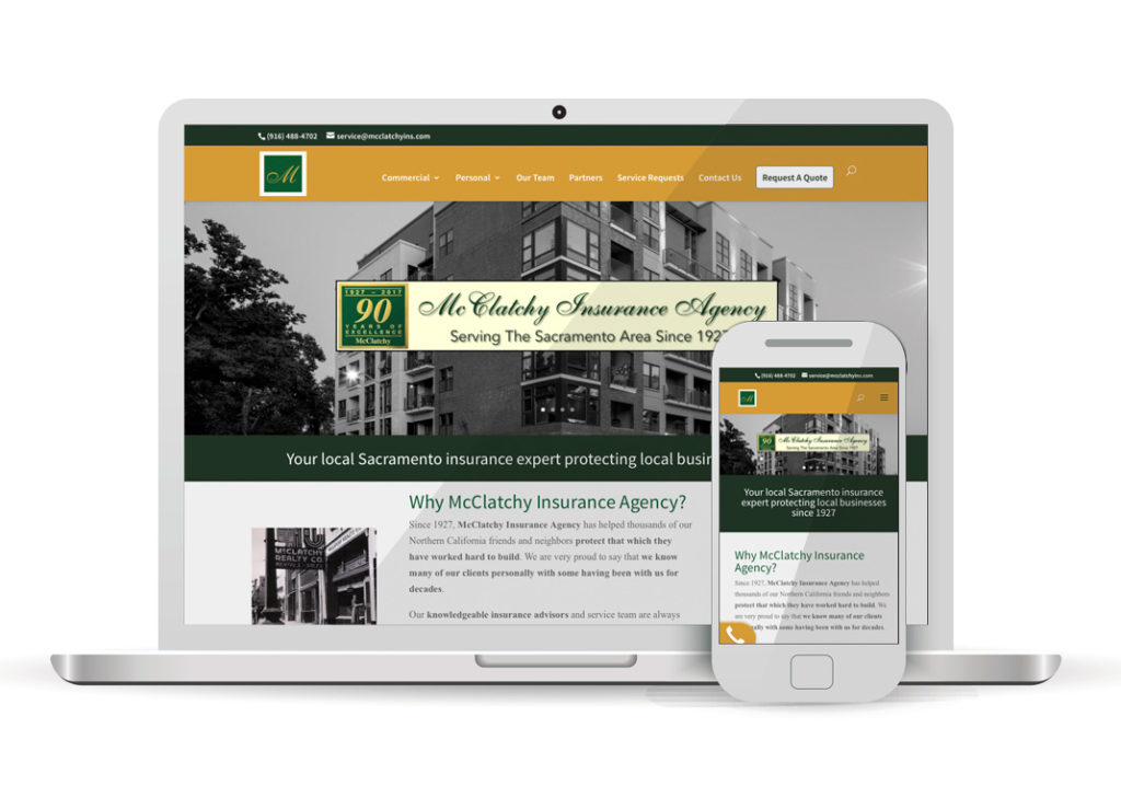 Client Portfolio McClatchy Insurance Agency Sacramento | Wordpress Website Design
