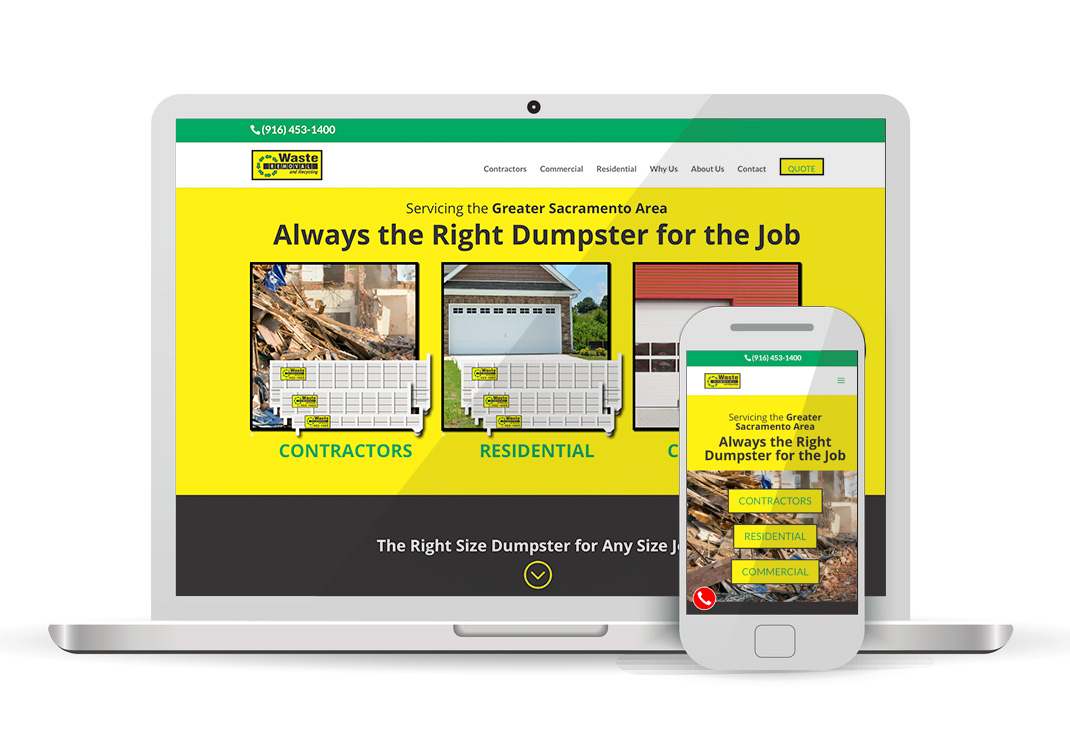 Waste Removal And Recycling WordPress Website Design