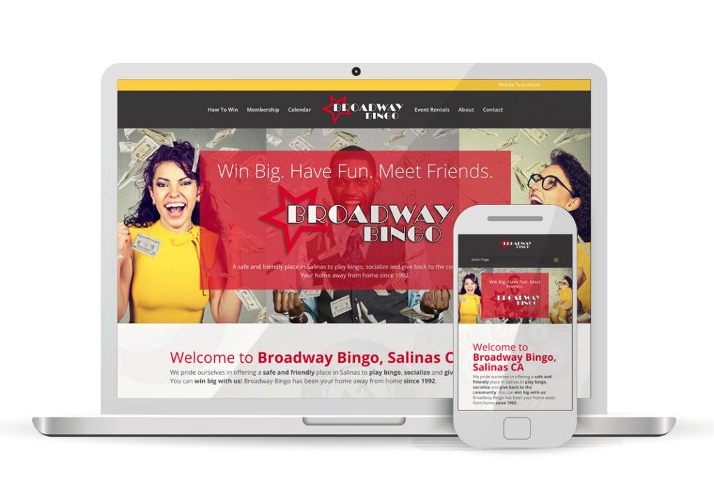 Client Portfolio Broadway Bingo Salinas | Wordpress Website Design