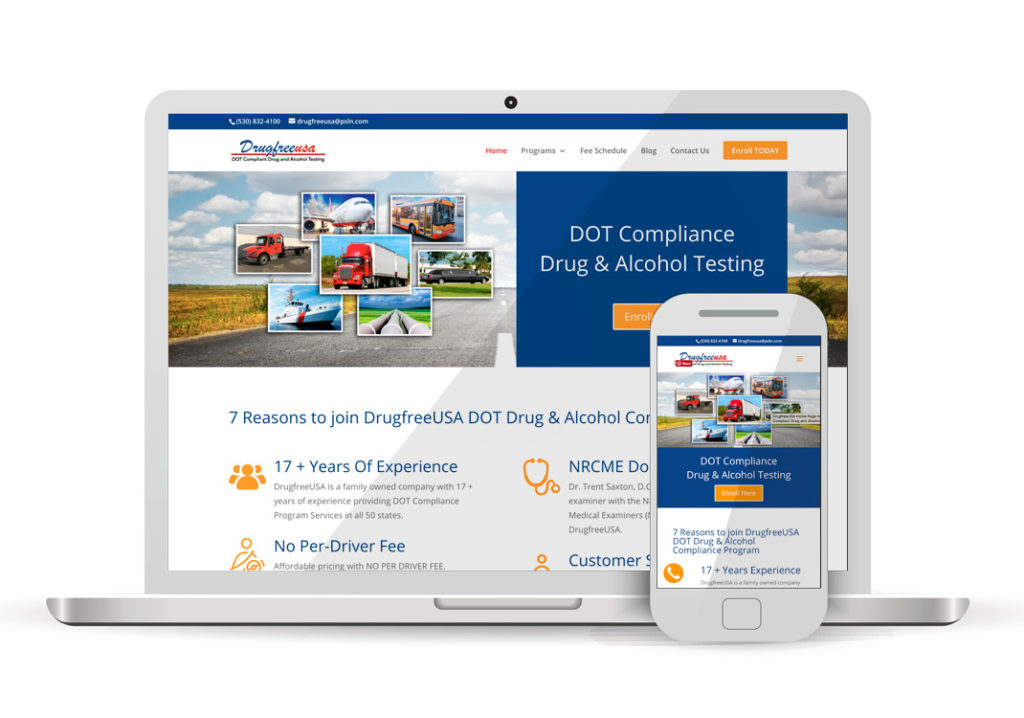 Client Portfolio Drugfree USA Portola | Wordpress Website Design