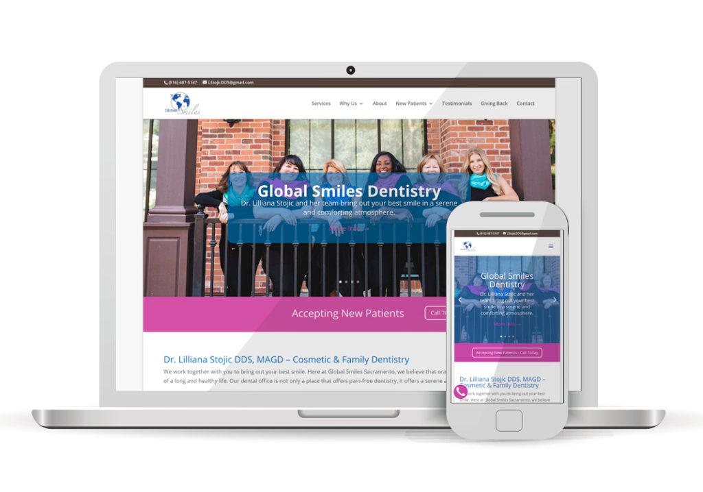 Client Portfolio Global Smiles Sacramento | Wordpress Website Design