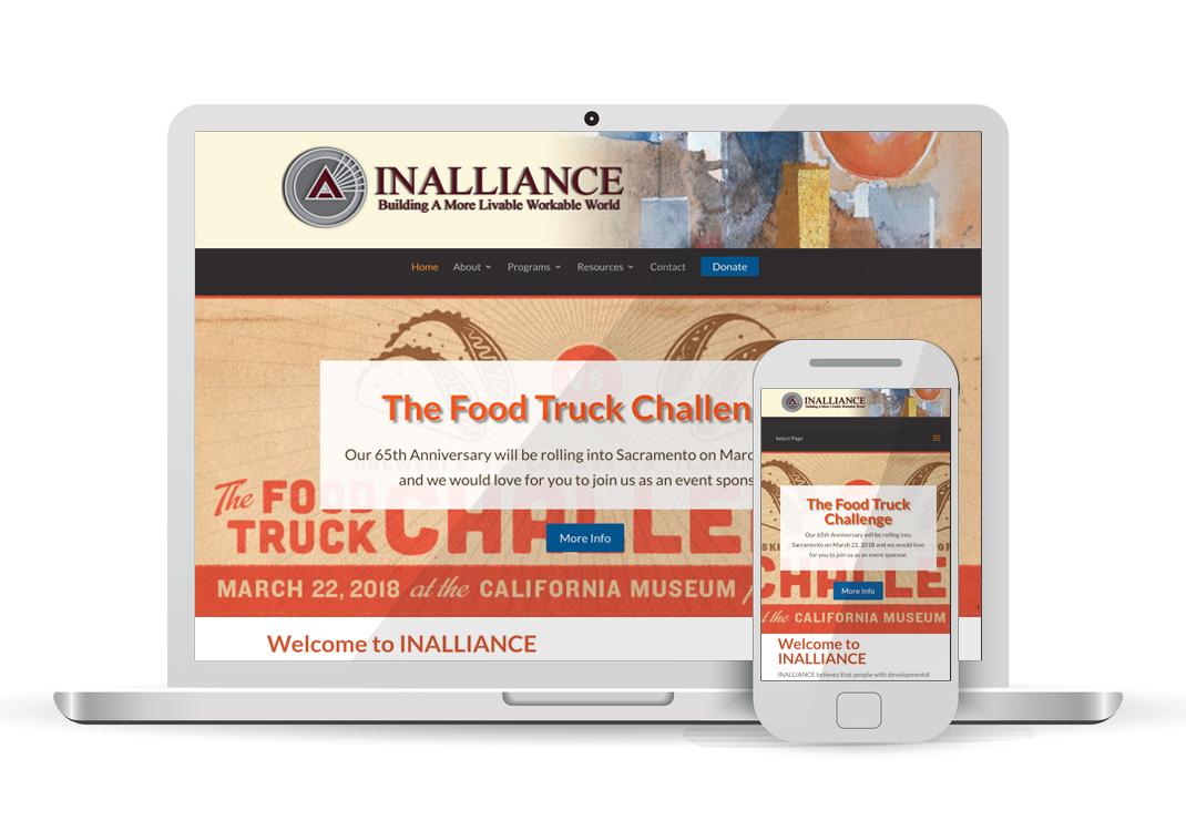 Inalliance Inc. WordPress Website Design Sacramento