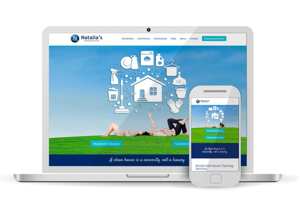 Client Portfolio Natalia's House Cleaning | Wordpress Website Design
