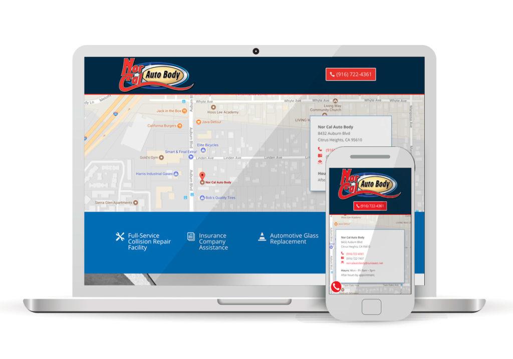 Client Portfolio Nor Cal Auto Body | Wordpress Website Design