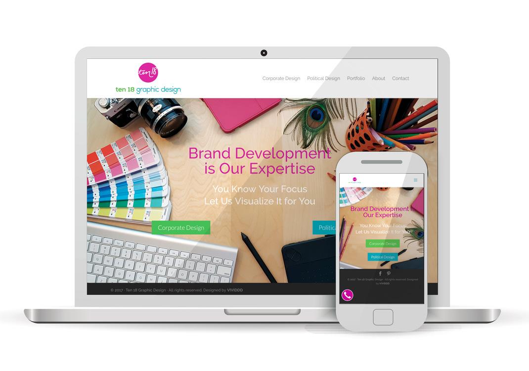 Ten 18 Graphic Design WordPress Website Design Sacramento
