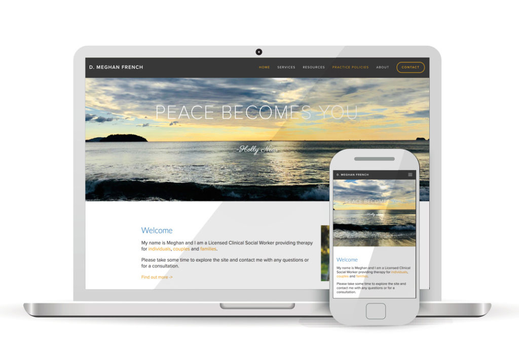 Client Portfolio D Megan French Therapy Sacramento | Squarespace Website Design