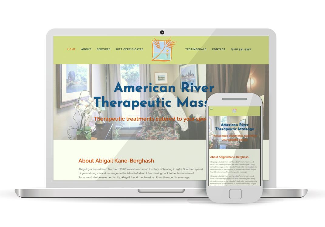 American River Therapeutic Massage Squarespace Website Design