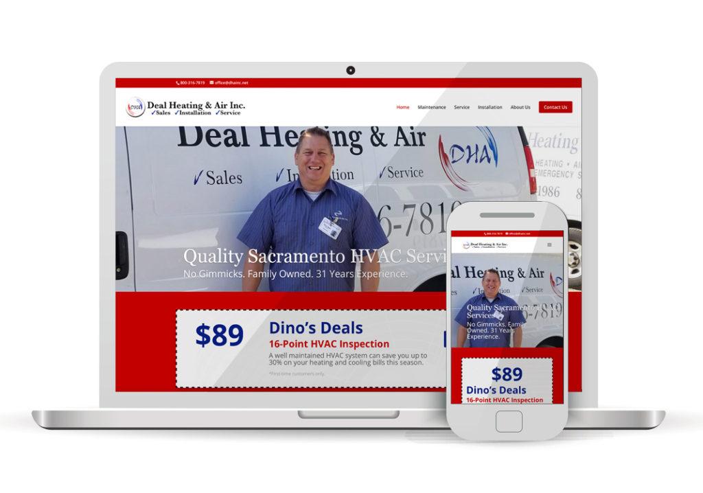 Client Portfolio DHA Deal Heating & Air Rescue |Wordpress Website Design
