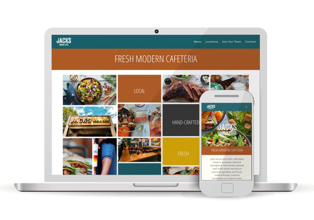 Client Portfolio JACKS Urban Eats Sacramento | Wordpress Website Design