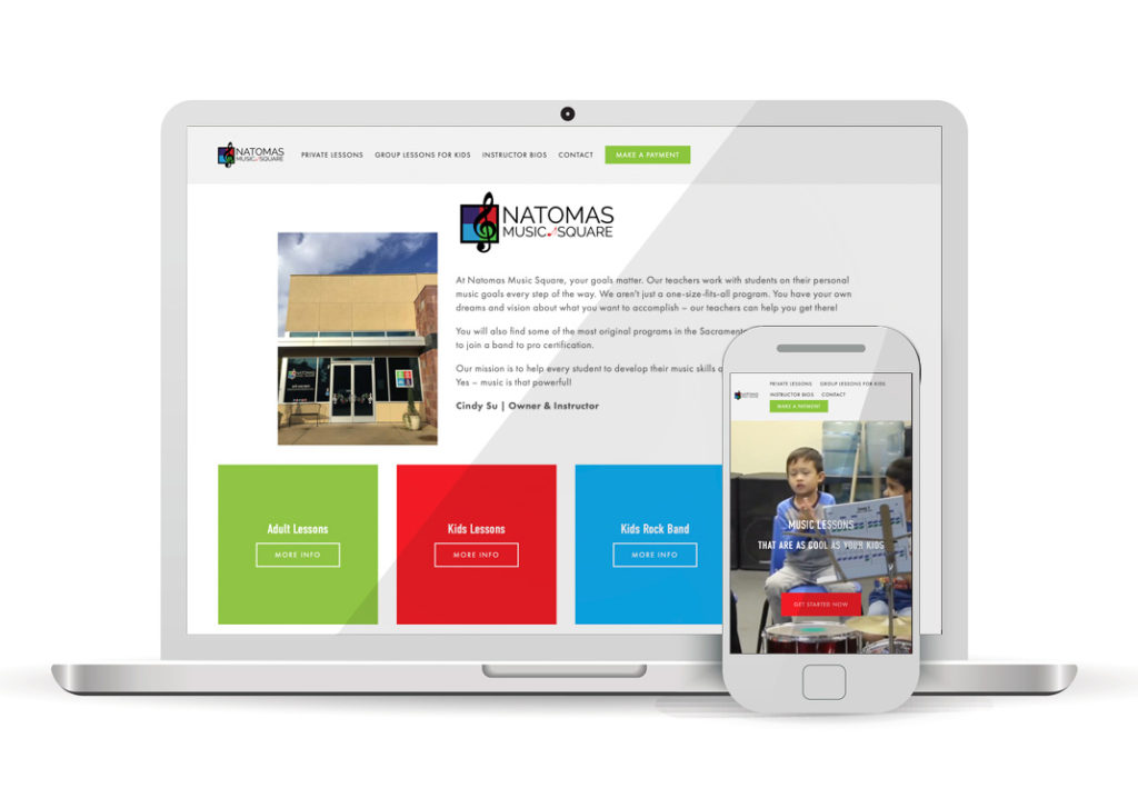 Client Portfolio Natomas Music Square Natomas | Squarespace Website Design