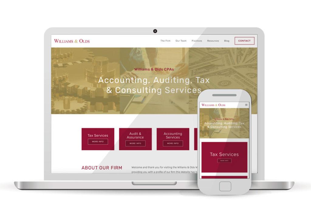 Client Portfolio Williams & Olds CPAs Sacramento | Squarespace Website Design
