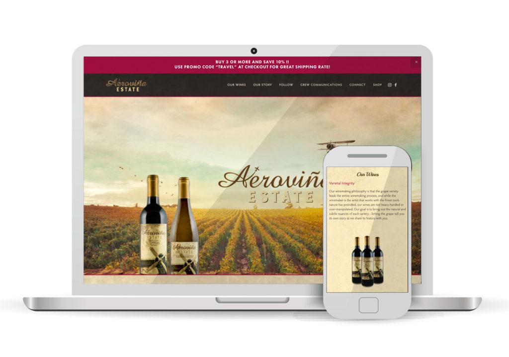 Client Portfolio Aerovina Estate Sacramento | Wordpress Website Design
