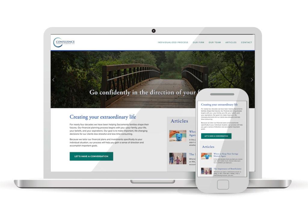 Client Portfolio Confluence Financial Planners Sacramento | Squarespace Website Design