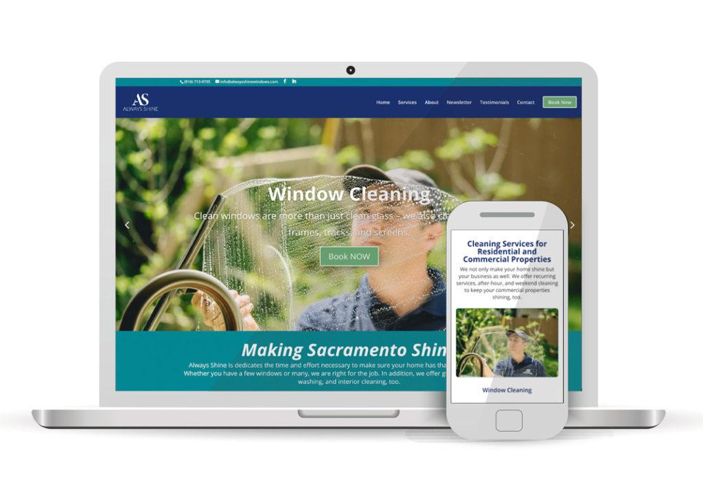 Client Portfolio Always Shine Sacramento | Wordpress Website Design