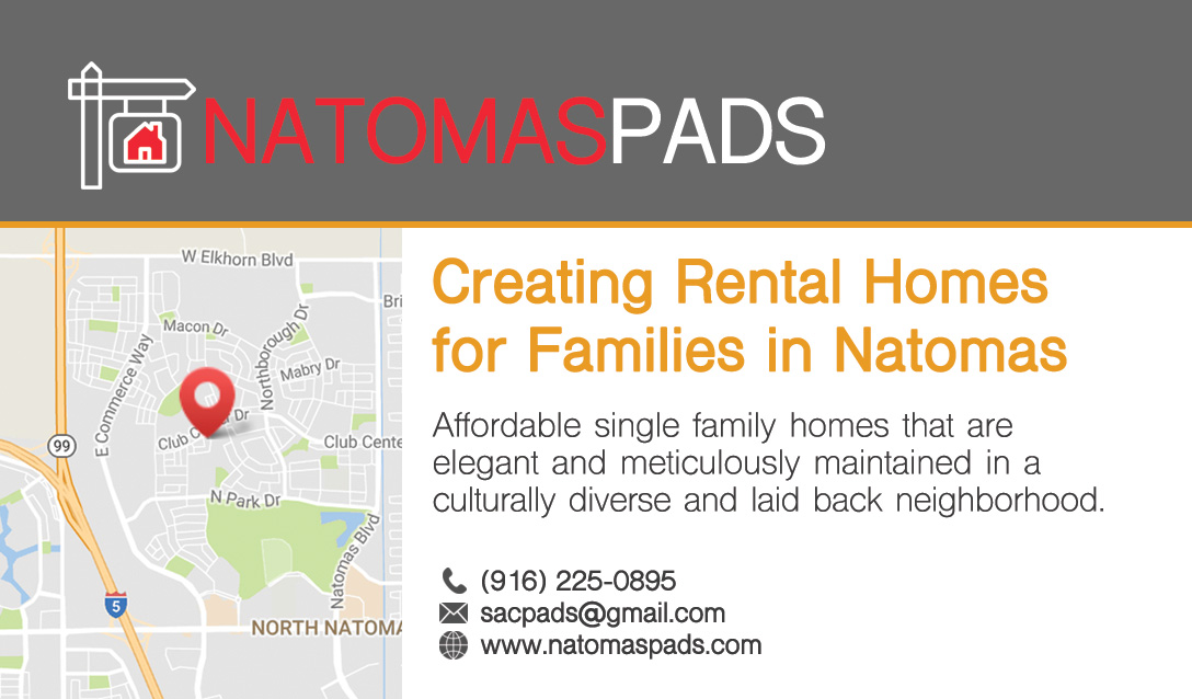 Natomas Pads Business Card Front