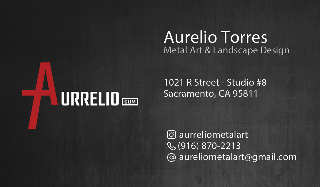 New Business Card Aurrelio Back