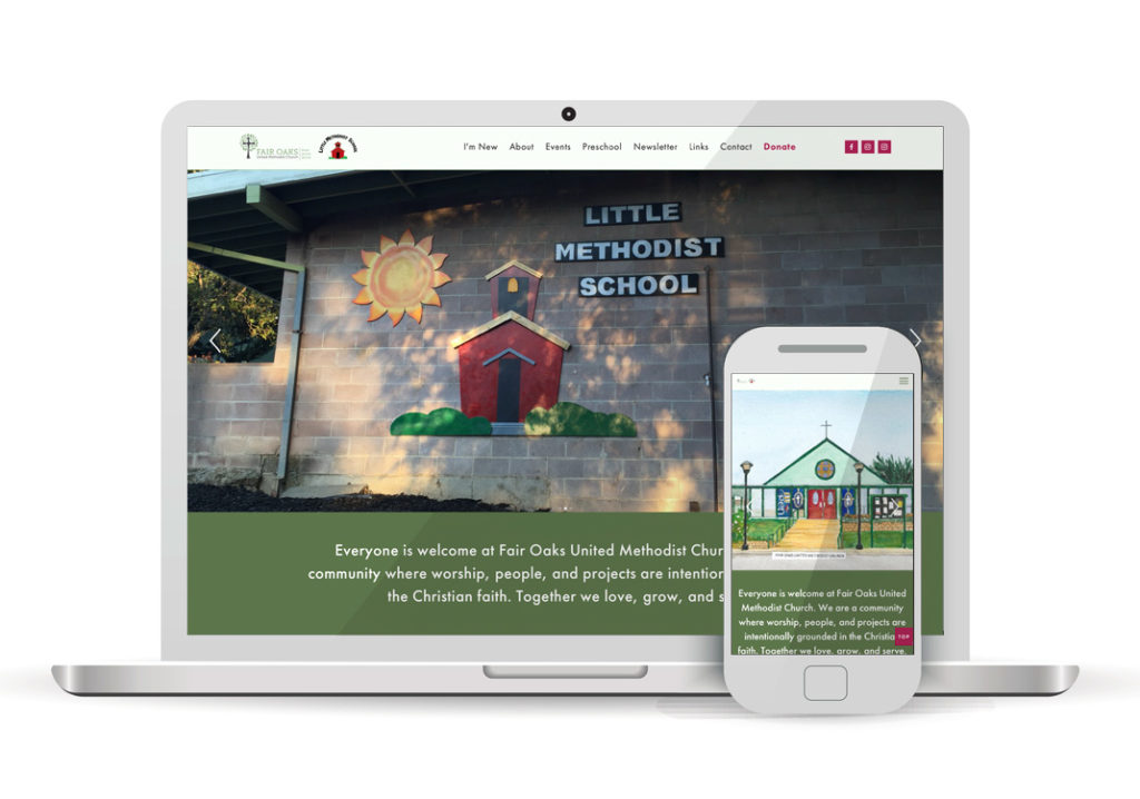 Client Portfolio Fair Oaks United Methodist Church Fair Oaks | Squarespace Website Design
