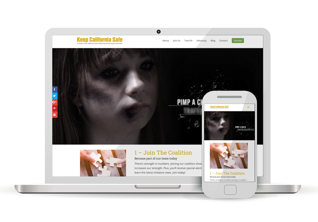 Keep California Safe WordPress Website Design