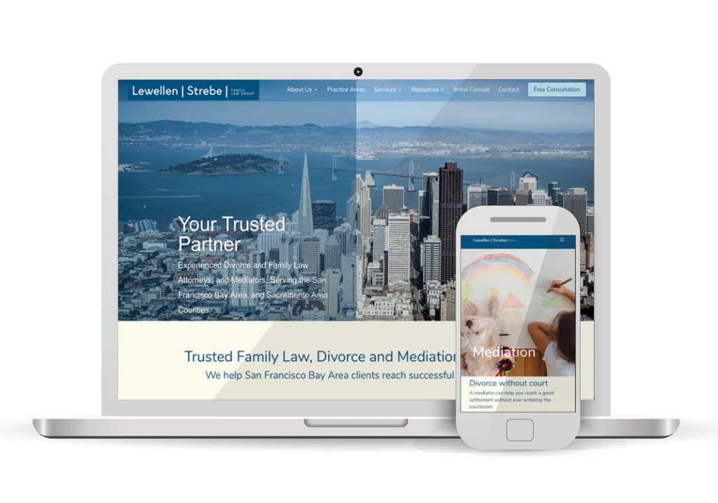 Client Portfolio Lewellen Strebe Family Law San Francisco | Wordpress Website Design