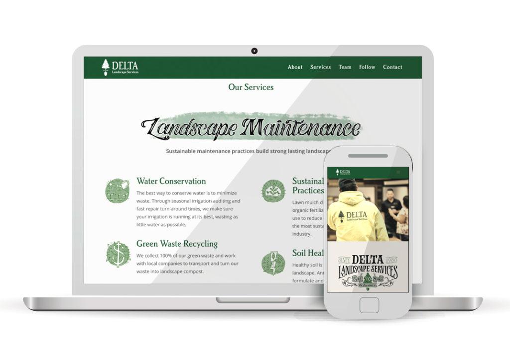 Client Portfolio Delta Landscape Rancho Cordova | Wordpress Website Design