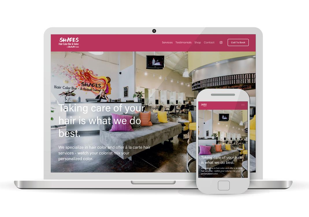 Shades Color Bar Squarespace Website Design