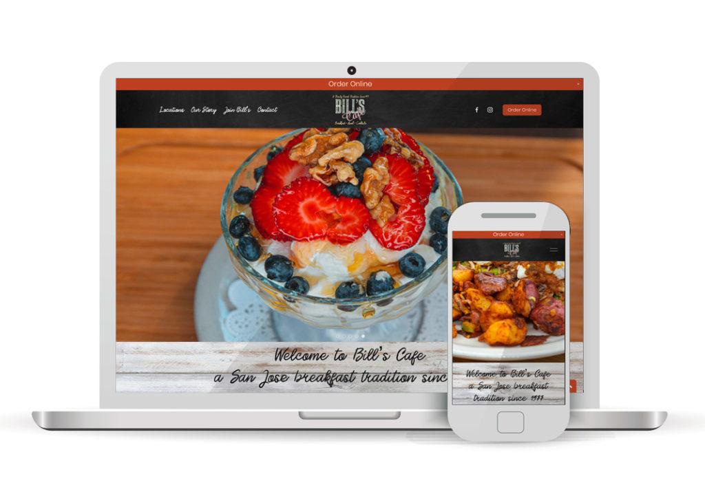 Client Portfolio Bill's Cafe San Jose | Squarespace Website Design