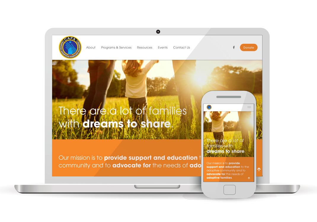 CAFA Capital Adoptive Families Alliance Squarespace Website Design