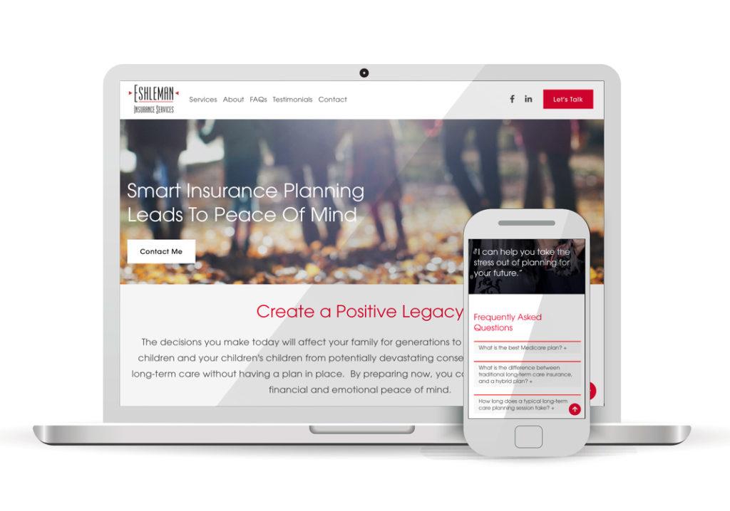 Client Portfolio Liz Eshleman Insurance Services Sacramento | Squarespace Website Design