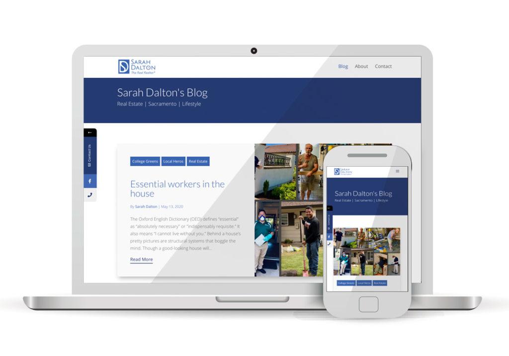 Client Portfolio Sarah Dalton The Real Realtor Sacramento | Wordpress Website Design