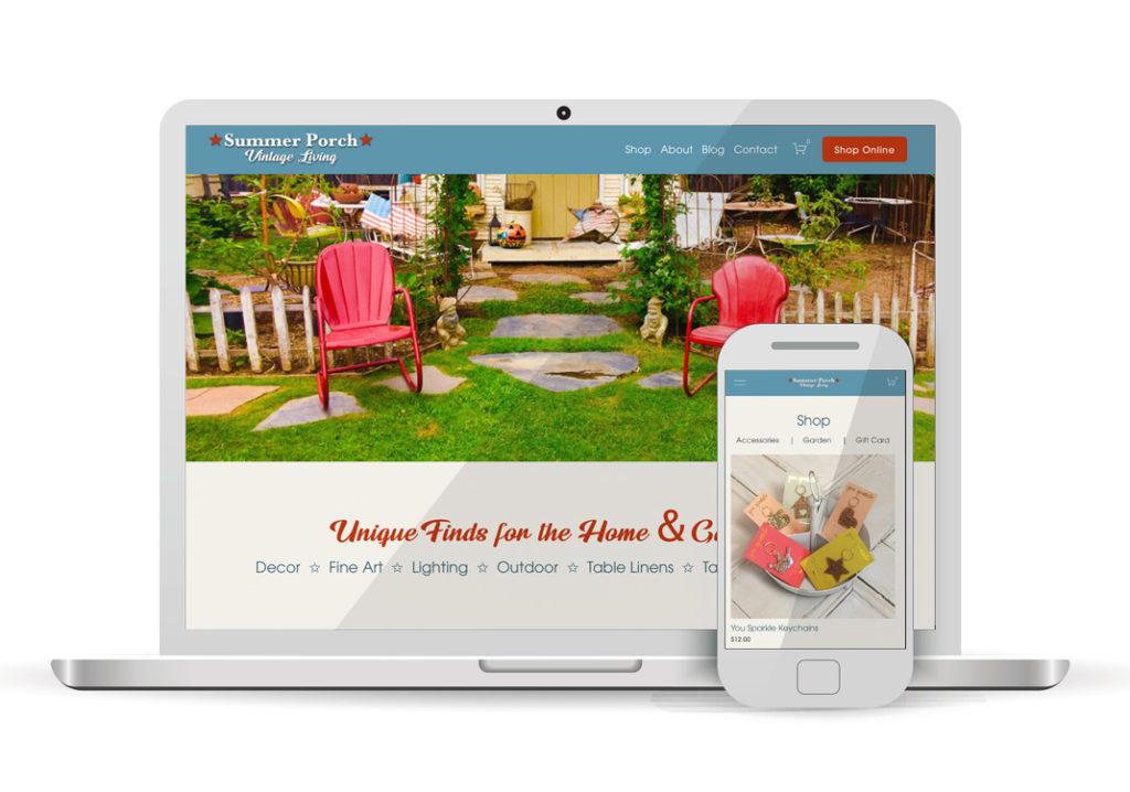 Client Portfolio Shop Summer Porch Sacramento | Squarespace Ecommerce Website Design