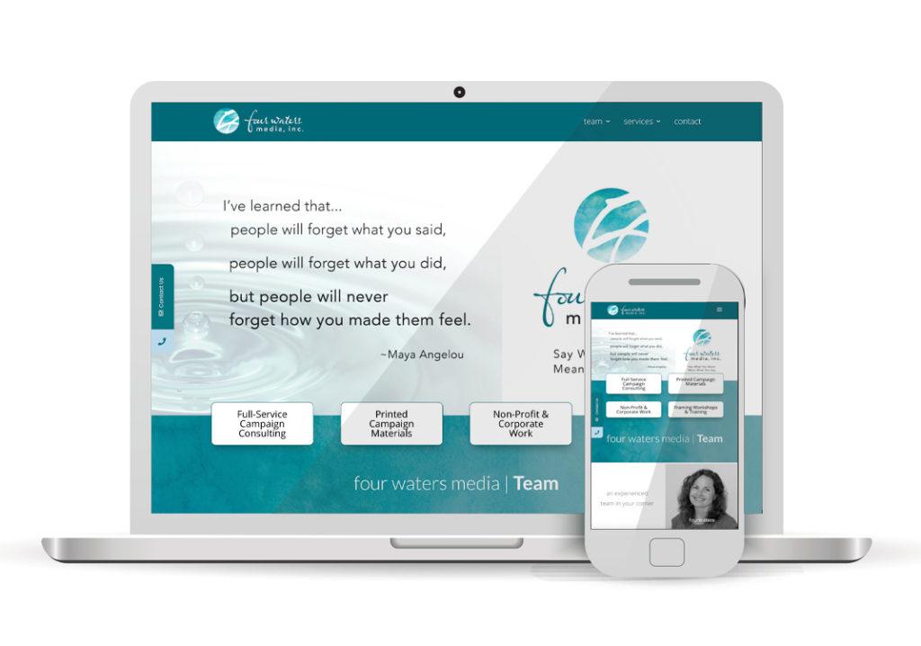 Client Portfolio four waters media Sacramento | Wordpress Website Design