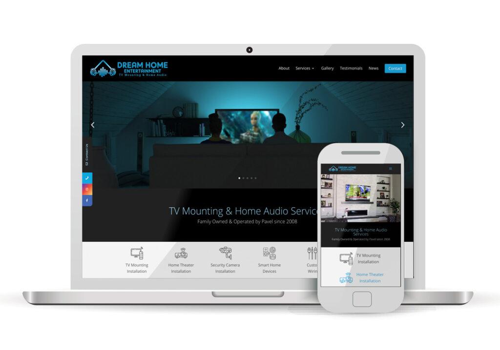 Client Portfolio Dream Home Entertainment Sacramento | Wordpress Website Design