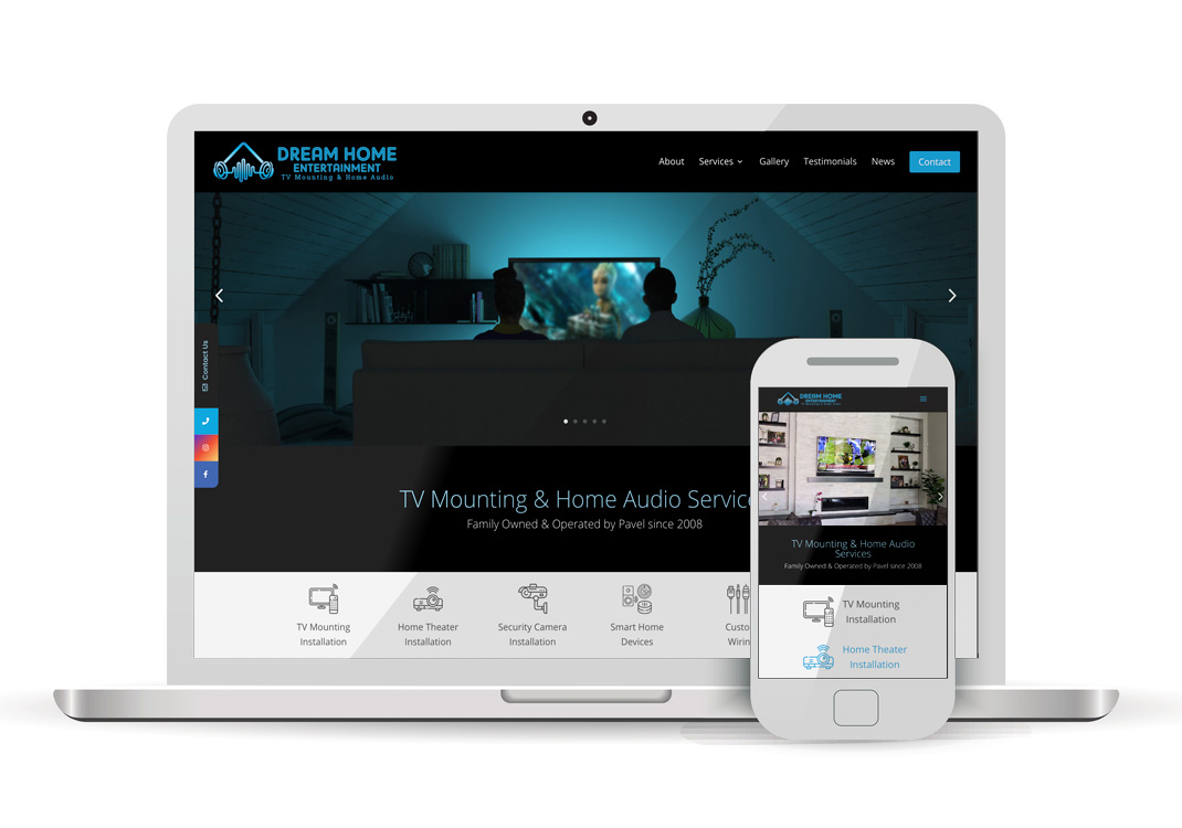 Dream Home Entertainment WordPress Website Design