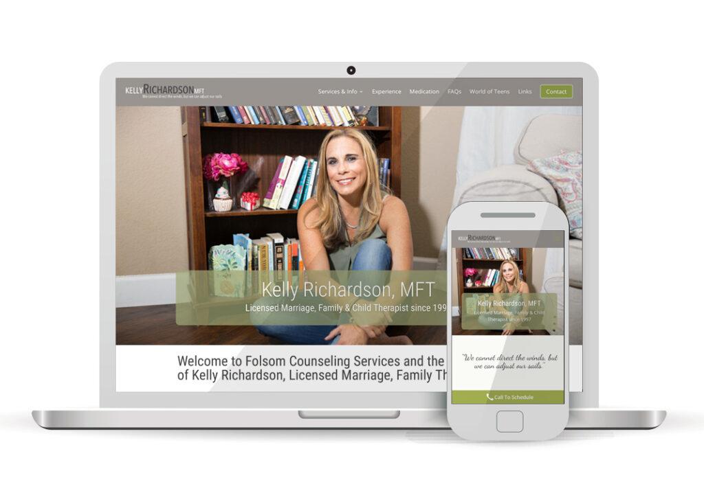 Client Portfolio Kelly Richardson MFT Sacramento | Wordpress Website Design