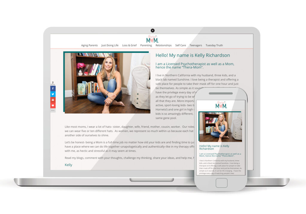 Client Portfolio Thera-Mom Folsom | Wordpress Website Design
