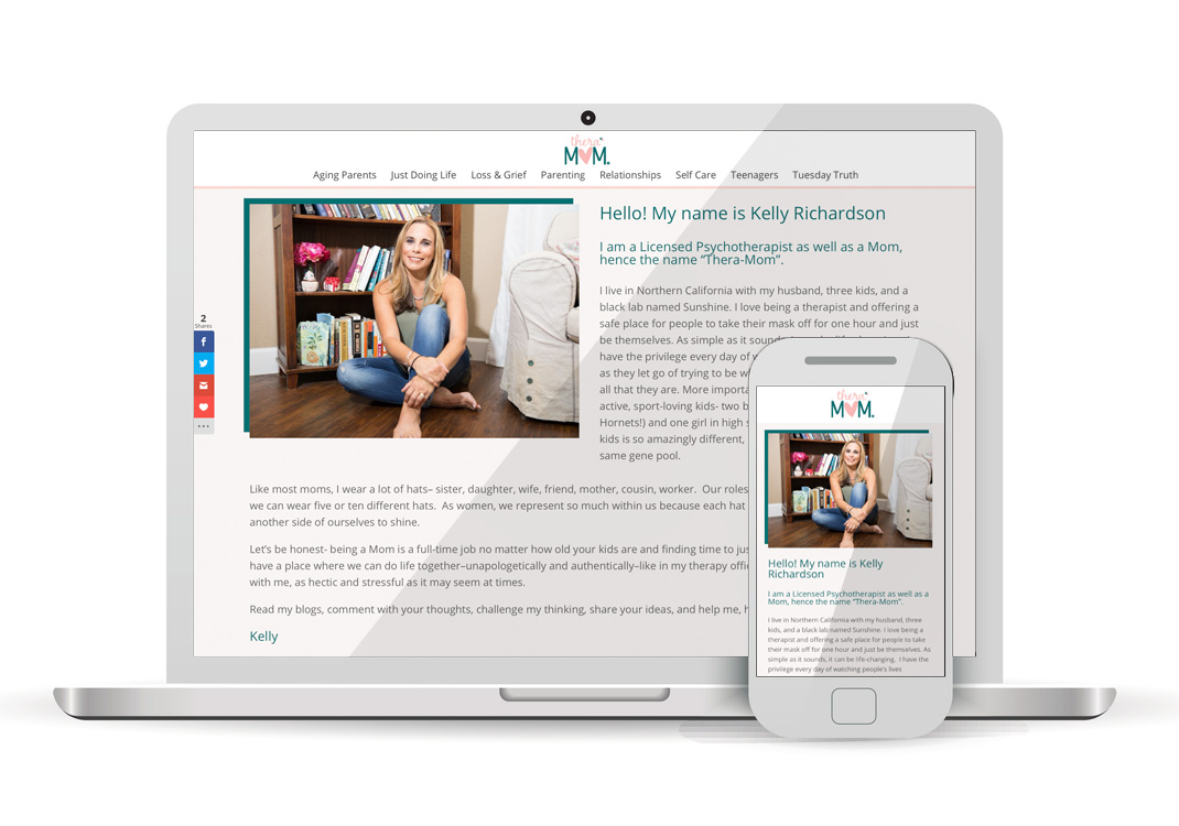 Thera Mom WordPress Website Design